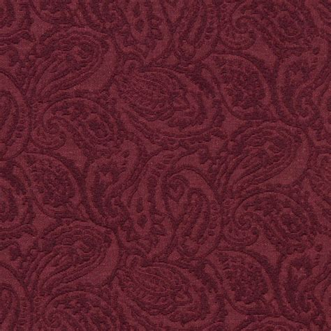 Upholstery Grade Fabric by Burgundy Traditional Paisley Woven Matelasse Upholstery