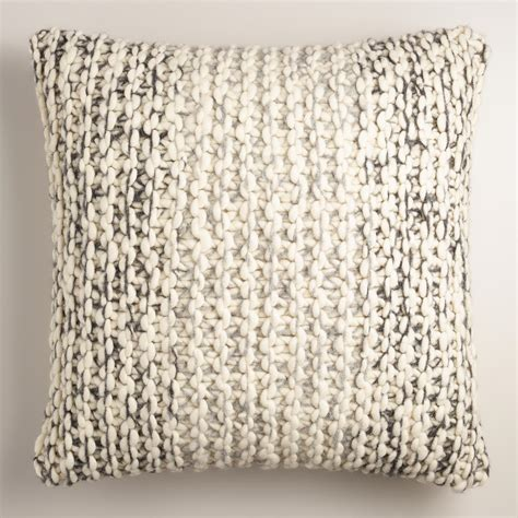 Wool Throw Pillows by Chunky Sweater Wool Throw Pillow World Market