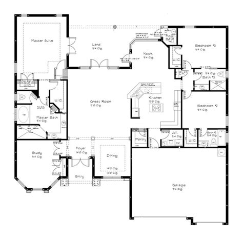 One Story Open Floor Plans 1000 Ideas About Open Floor Plans On Open