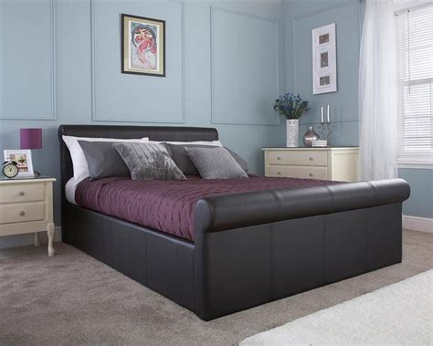 discount ottoman beds carlton faux leather ottoman bed frame discount