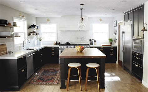 Eat On Kitchen Island by Kitchen Black White Kitchen Ideas Features Black And White
