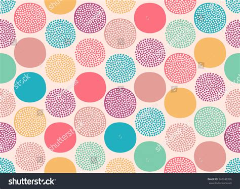 doodle dots seamless doodle dots pattern stock vector