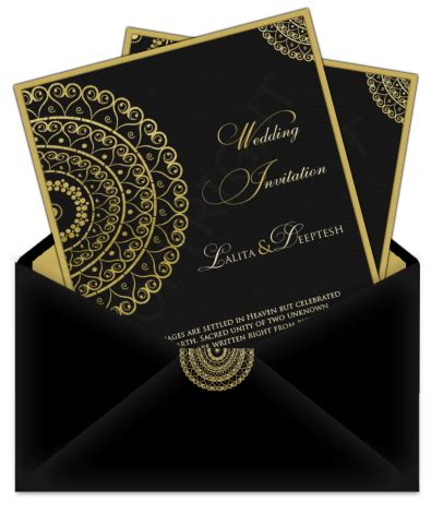 Letter Style Email Indian Wedding Card Design 25   Email Wedding