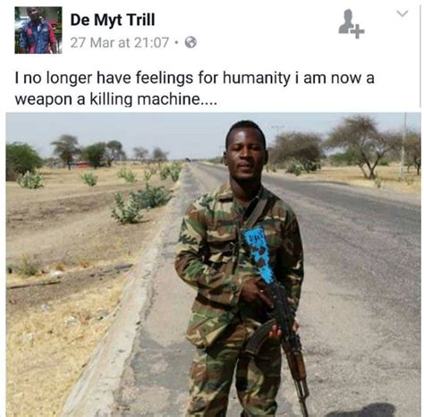 tattoo machen haram nigerian soldier tired of shedding blood of boko haram