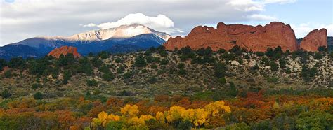 Garden Of The Gods Fall by Pikes Peak Fall Pano Photograph By Ronda Kimbrow