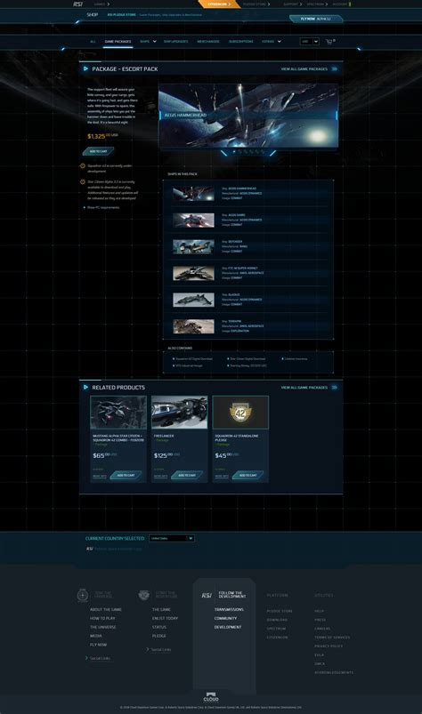 game packages starcitizen