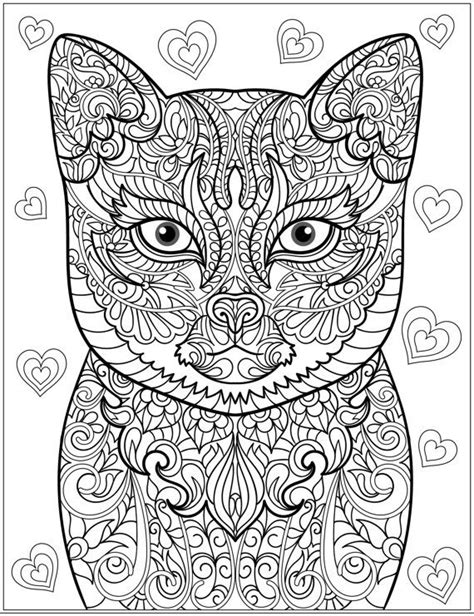 cat zentangle coloring page 629 best adult colouring cats dogs zentangles images on