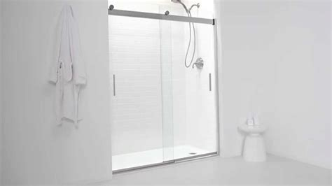 Kohler Levity Shower Door Youtube Levity Shower Door