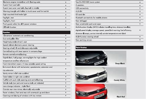 volkswagen polo specifications volkswagen polo gt tsi pictures technical specs brochure