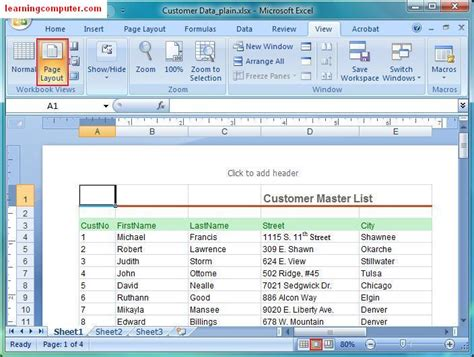 how to layout an excel spreadsheet microsoft excel tutorial page layout tab in ms excel