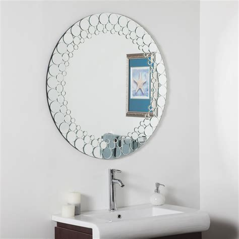 decor wonderland ssd circles bathroom mirror lowes