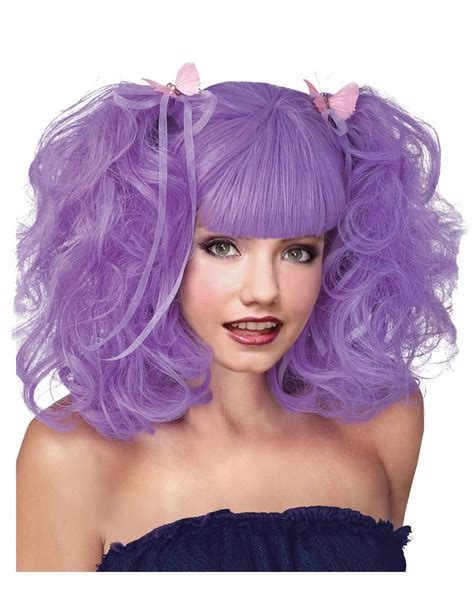 prixie braided wigs pixie lavender wig violet cosplay wig with braids horror