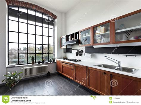 beautiful house interior view of the kitchen interior view of the kitchen stock photo image 27972898