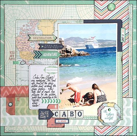 scrapbook layout travel my mind s eye blog travel themed scrapbook layout