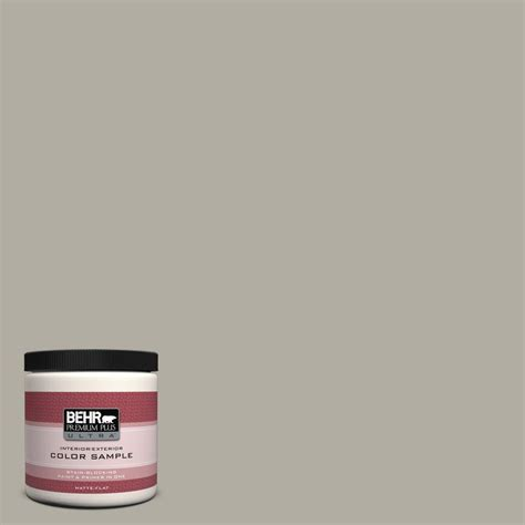 behr premium plus ultra 8 oz 790d 4 granite boulder interior exterior paint sle 790d 4u