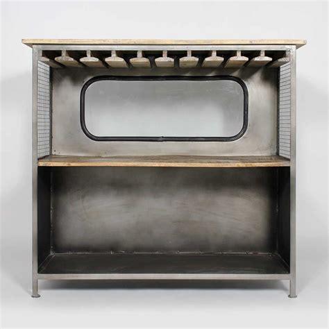 Range Verre Bar bar industriel gris en m 233 tal range verre meubles bar et