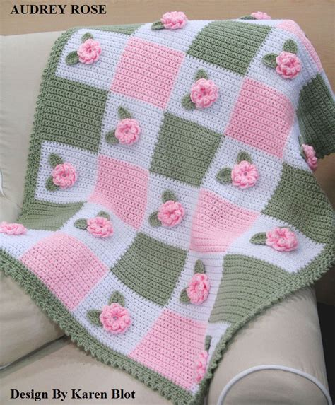 Cr Laine Home Page victorian audrey rose baby crochet afghan pattern 3 d ebay