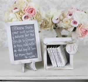 rustic guest book alternative shabby chic wedding by