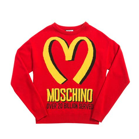 moschino fast food jumper in lyst