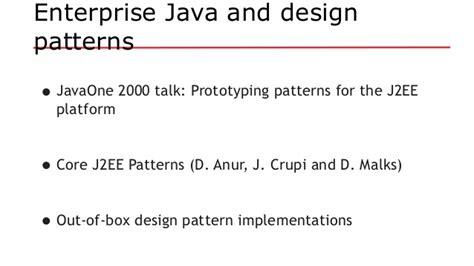 vo pattern in java java ee revisits design patterns