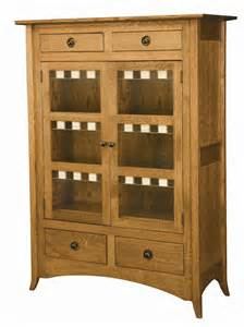 Shaker Cabinet Doors With Glass Amish Shaker Hill Two Door Cabinet With Glass Panels