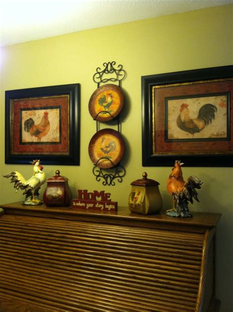 Chicken Decorating Ideas For The Kitchen Rooster Decor Country Kitchen With Roosters