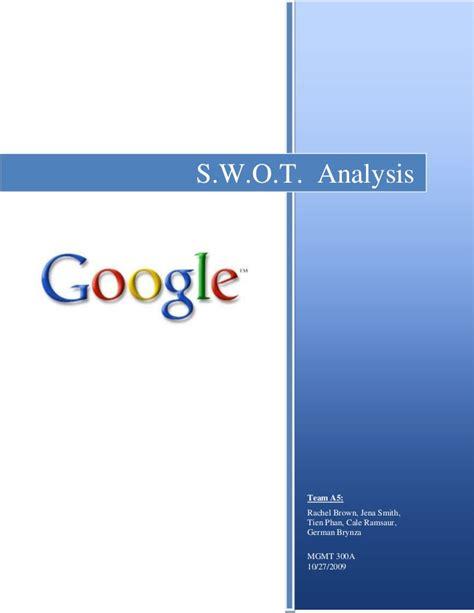 google swot analysis if you like ux design or design google s w o t analysis