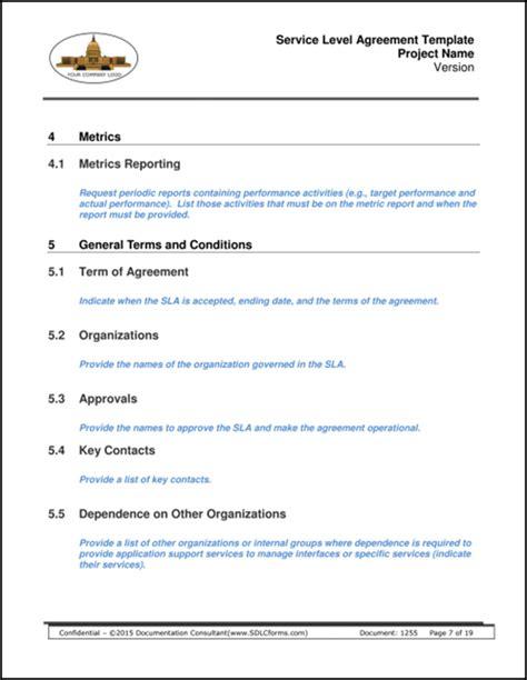 saas service level agreement template wonderful sla metrics template gallery exle business