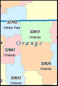 zip code map orange county winter park fl zip code