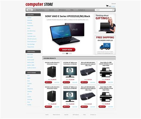 computer website templates free computers store web template free store templates