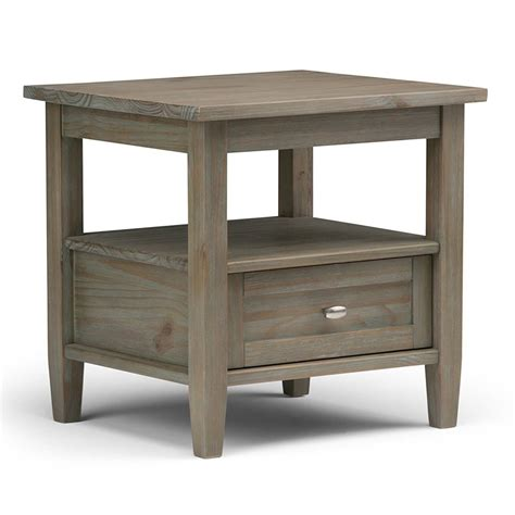 Wood End Tables Distressed Wood End Table Home Furniture Design