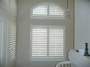 Circle Top Window Blinds - specialty shape plantation shutters orange county
