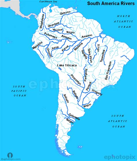 rivers of south america map south america rivers map rivers map of south america