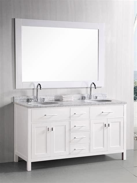 61 bathroom vanity 61 quot london double sink vanity white bathgems com