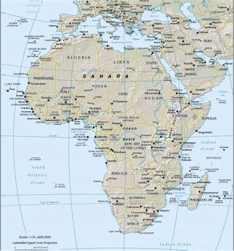 africa map 2003 west to east africa november 2003 february 2004