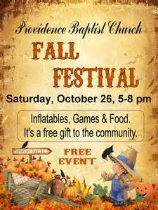 Fall Festival Flyer Templates Free by Providence Baptist Church Invites Everyone Out To Their