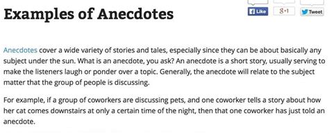 Exle Of Anecdote Essay by Anecdotes Exles For Essays Visomall