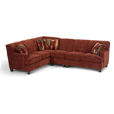 sofas in stock flexsteel 5641 sectional dempsey sectional discount