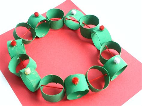 easy wreath crafts easy cardboard wreath craft fantastic
