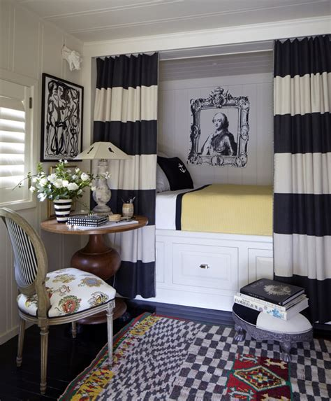 decorating with stripes for a stylish room horizontal stripe curtains eclectic bedroom stephen