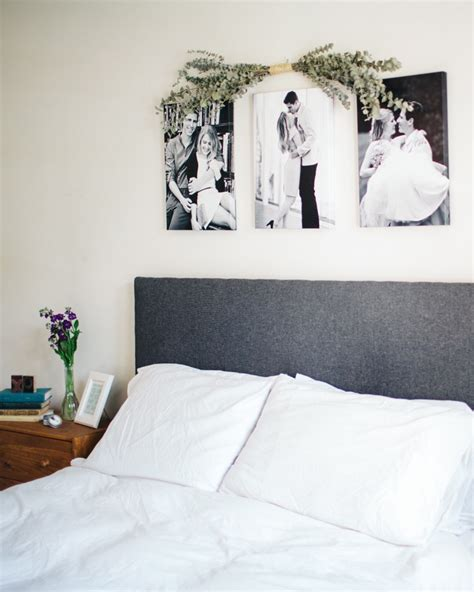 Frames Above Bed Pictures Canvases Above Bed Frame Theisen S Paul Mn Home Tour Theeverygirl
