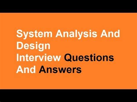 vlsi layout interview questions and answers system analysis and design interview questions and answers