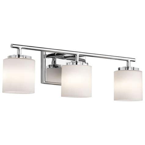 bathroom light bars chrome kichler lighting o hara chrome bathroom light 45502ch