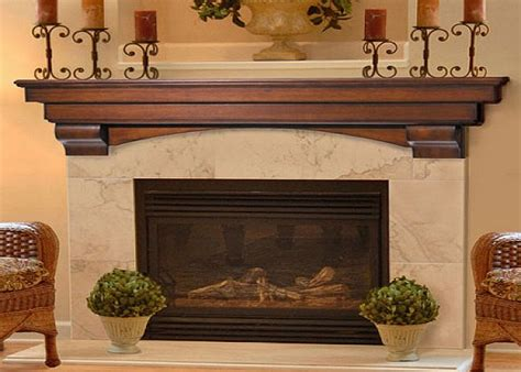 auburn fireplace mantel decor with candles above shelf