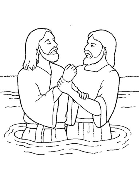 john the baptist baptism jesus coloring pages john the baptist