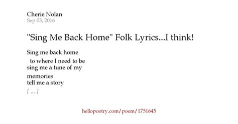 quot sing me back home quot folk lyrics i think by ma cherie