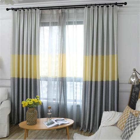 curtains rooms nordic modern gradient blackout curtains for living room decorative three colors fabric bedroom