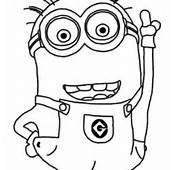 Love The Minion Coloring Page  Kids Play Color