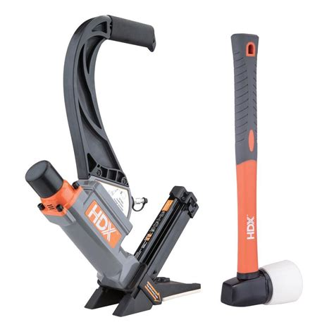 hdx pneumatic 2 in 1 16 flooring nailer with