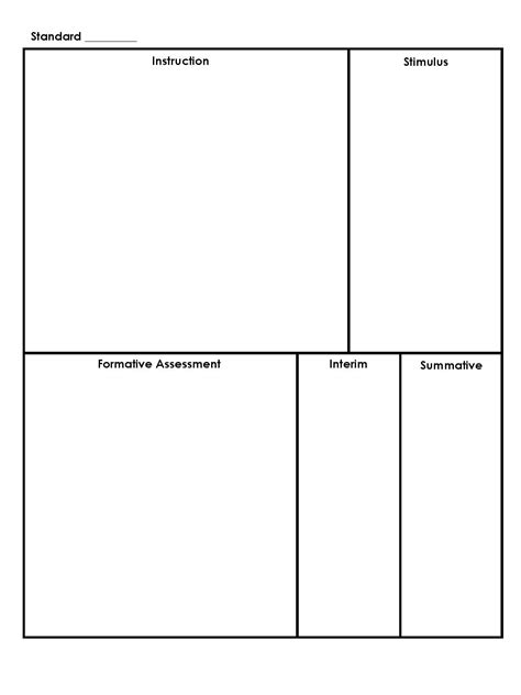 common core planning template simple free template